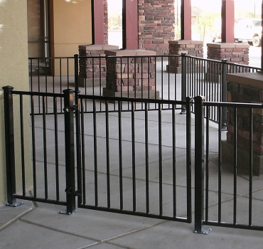 We Manufacture Custom Commercial Fence From Industrial Complexes To Restaurant  Patios. Click On The Photo To View Our Photo Gallery.