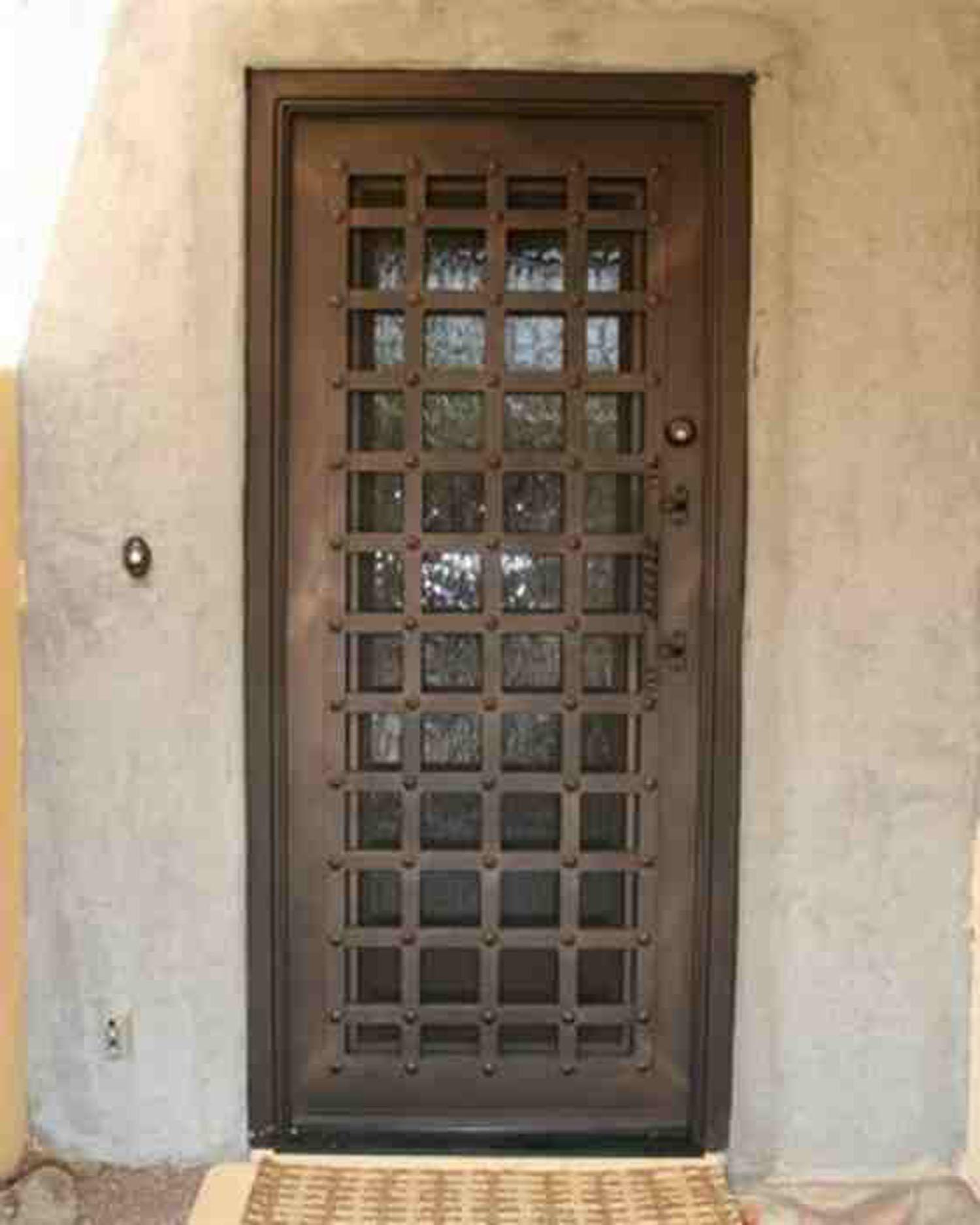 1875 #856A46 Security Doors pic Residential Security Doors Exterior 41111500